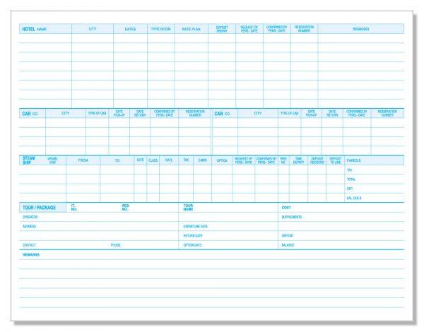 912P Reservation Worksheets