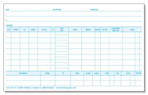 TV41O Destination Reservation Cards